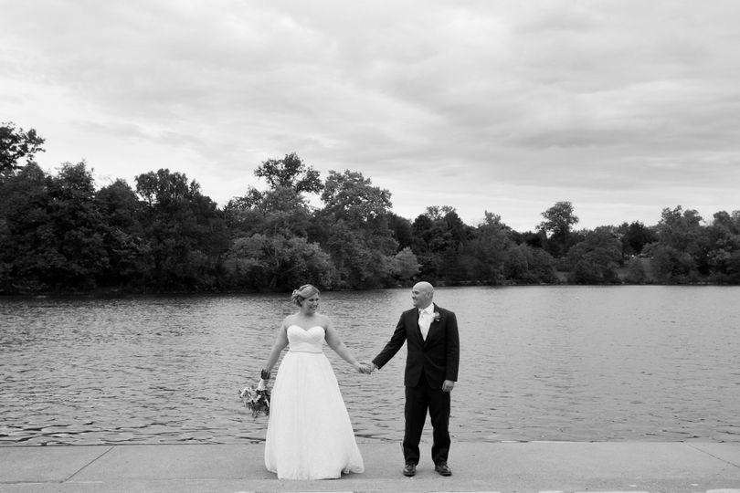 Hoyt Lake Wedding Portrait