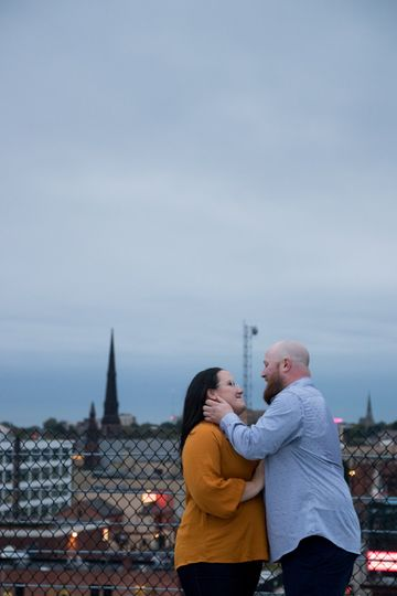 Buffalo Rooftop Engagement