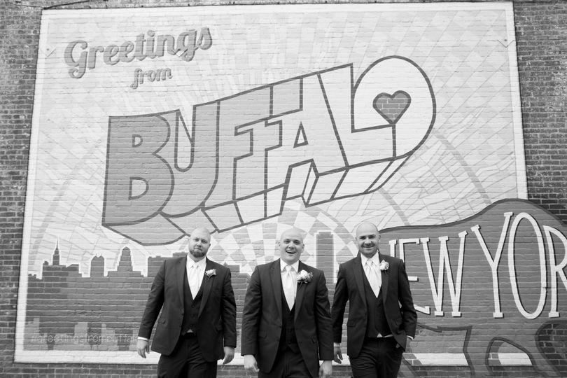 Groomsmen Downtown Buffalo