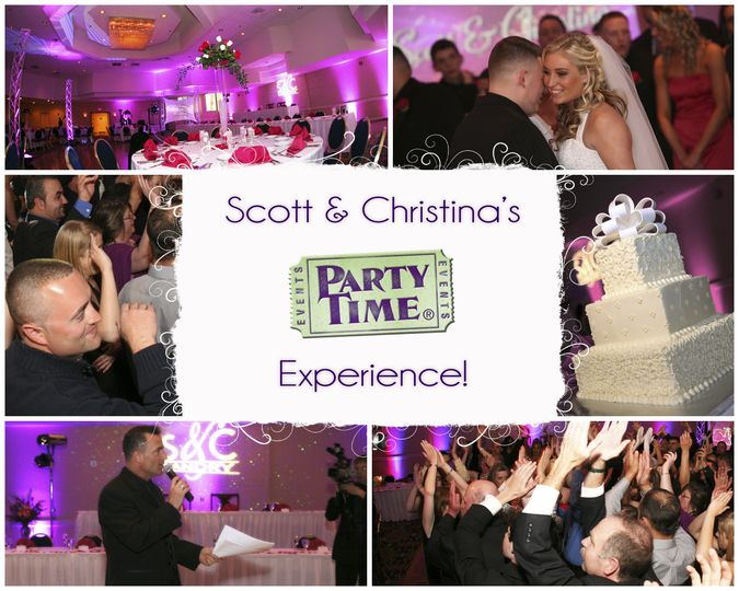 scott christinas wedding collage by party time en
