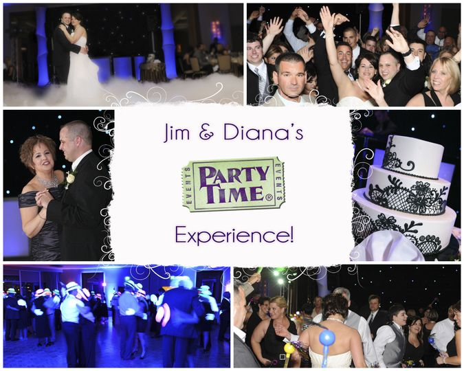 jim dianas wedding collage by party time entertai