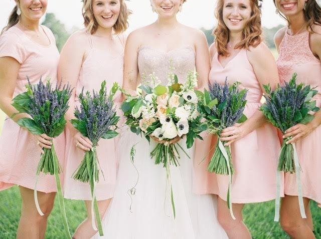 Lavender Bridesmaids Bouquets
