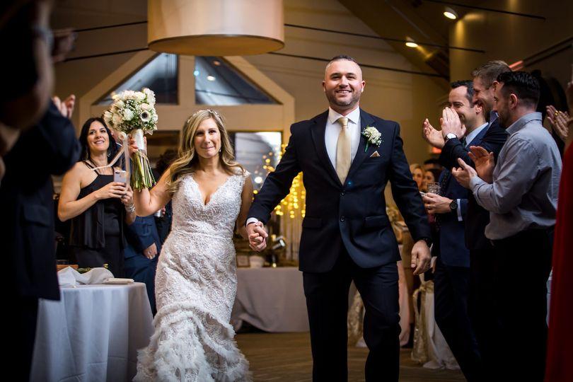 Bride and groom entering the reception - Port 305