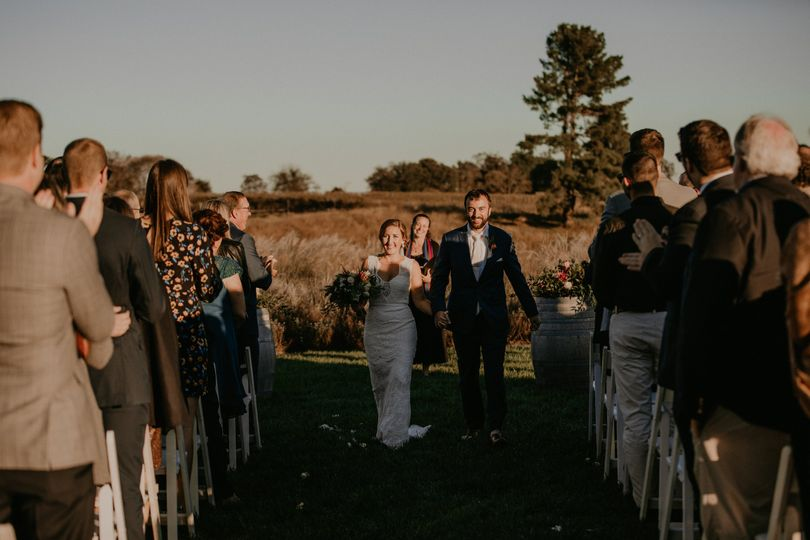 Fall wedding at Early Mountain