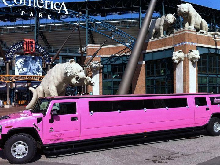 Tmx 1441215305590 Hummer Ext At Comerica Park New Haven, Michigan wedding transportation