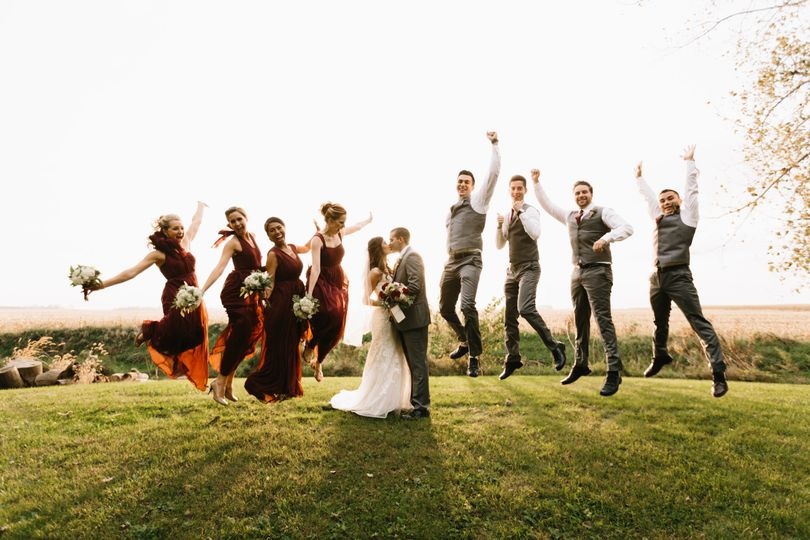 Fun times with the wedding party