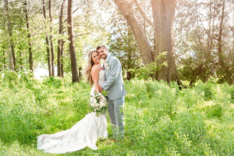 Newlyweds among nature