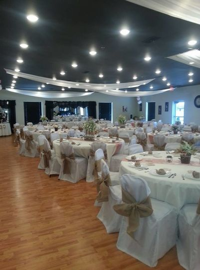 Table setting and chair bands