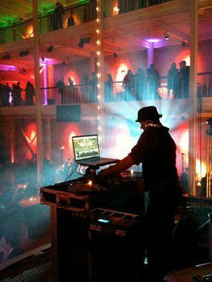 DJ at his station