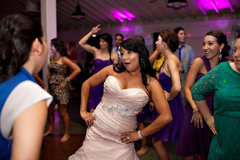 One of our beautiful brides working the dance floor!