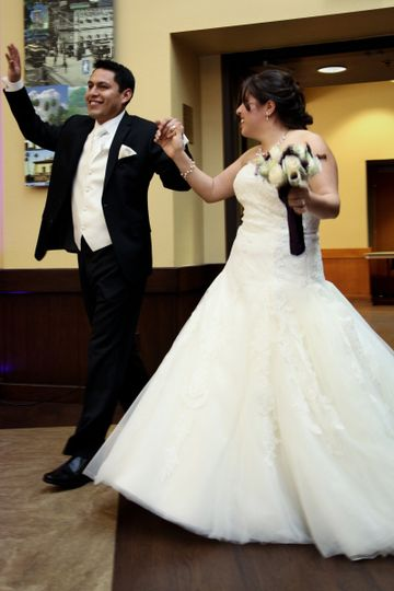 Another Happy Couple for their Grand Entrance!