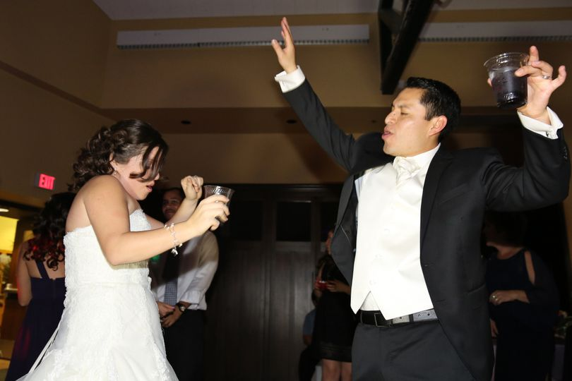 Great pic of what we do!  Provide the bride & groom a great time!