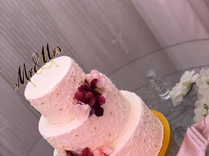 Tmx Brushed Embroidery 51 377920 157624848430275 Palm Harbor, Florida wedding cake