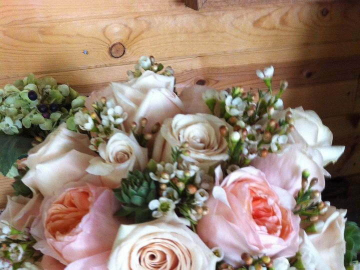 Tmx 1416536783836 Bridal Bouquet Of David Austin Roses And Solt Pink Portage, Michigan wedding florist