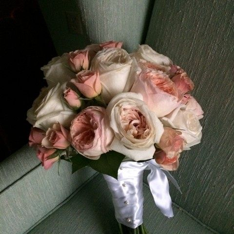 Tmx 1416537118115 Bridal Bouquet Of David Austin Portage, Michigan wedding florist