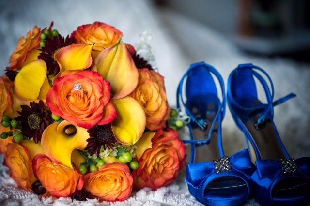 Tmx 1416540783485 Orange Roses Yellowcalla Lilies Portage, Michigan wedding florist