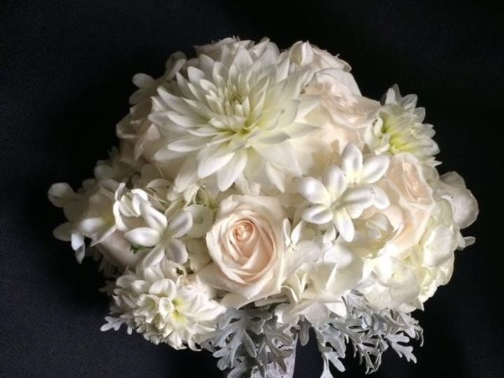 Tmx 1416540788504 Sahara Roses White Dahlias Stephonsis Dusty Milles Portage, Michigan wedding florist