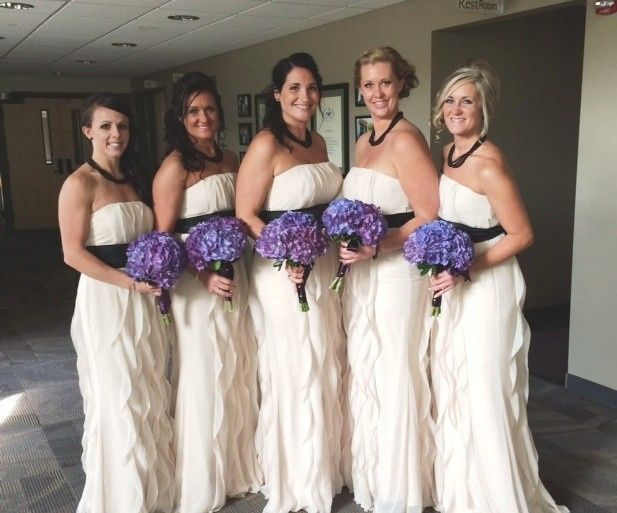 Tmx 1436387352250 Bridemaids At Annas Wedding With Purple Hydrangea Portage, Michigan wedding florist