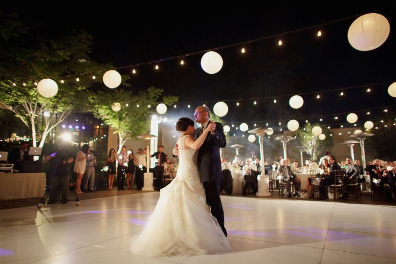 First dance under the stars.