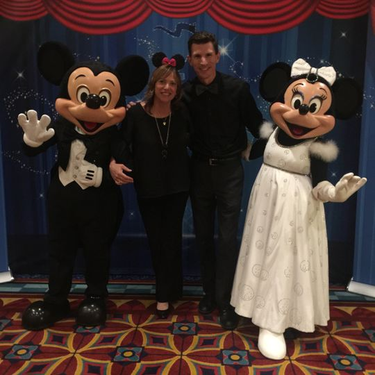 Brian and Lisa with a couple of Disney Friends