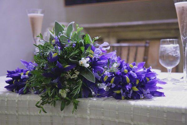 Violet iris bridal bouquet | Partain Photography