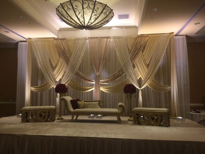 Stage w. Draping