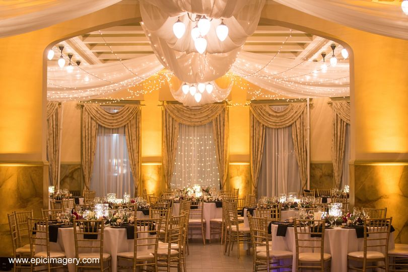 Ballroom w/ Drape & Lights