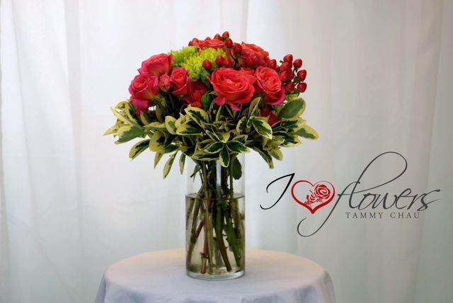 Sample flower arrangement