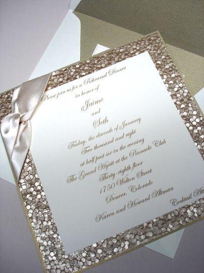 embossed wedding invitation 3creative wedding