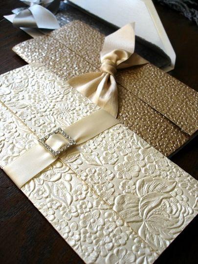 embossed wedding invitation design 1creative weddi