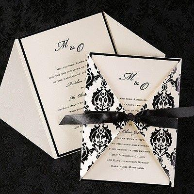 Black pattern and ribbon