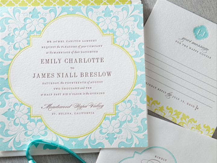 Tmx 1394752132136 Blue And Yellow Wedding Invitation And Stationery  Miami, FL wedding invitation