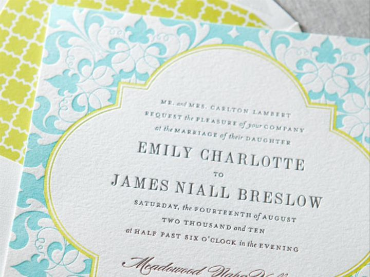 Tmx 1394752135649 Dp1gallerycamilledauphinepressletterpress 0 Miami, FL wedding invitation