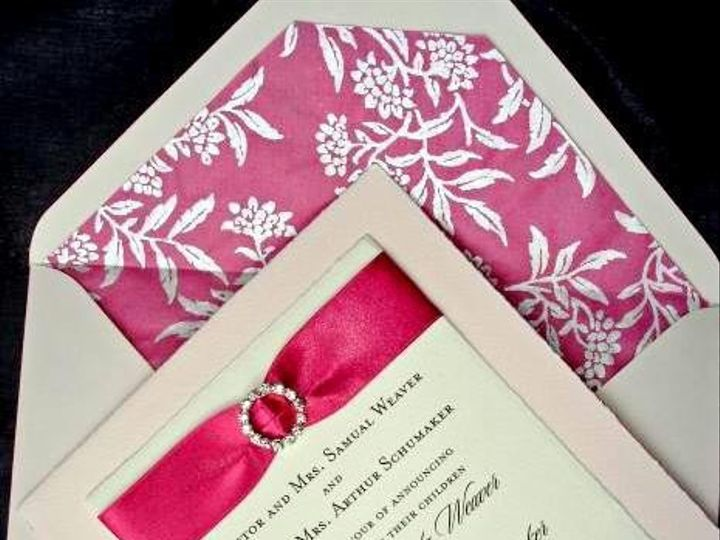 Tmx 1394752158208 Pink Ribboned Wedding Invitation 1creative Wedding Miami, FL wedding invitation