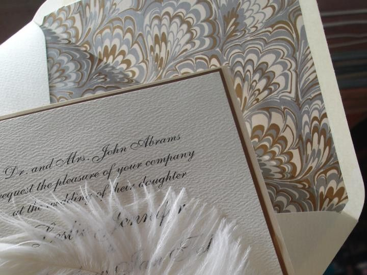 Tmx 1394752199976 White Feathered Wedding Invitation 1creative Weddi Miami, FL wedding invitation