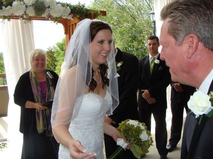 The happy bride