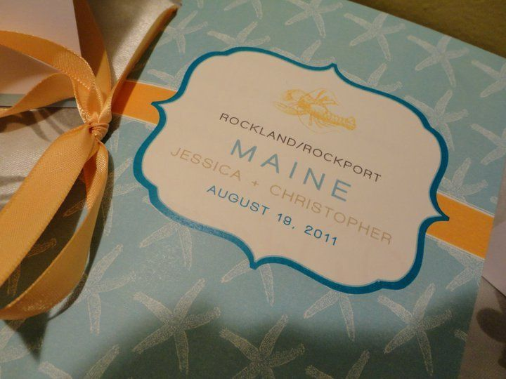 Guest Information Book for destination beach front wedding.
