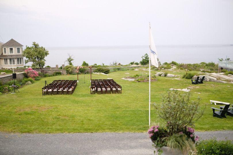 View of ceremony area