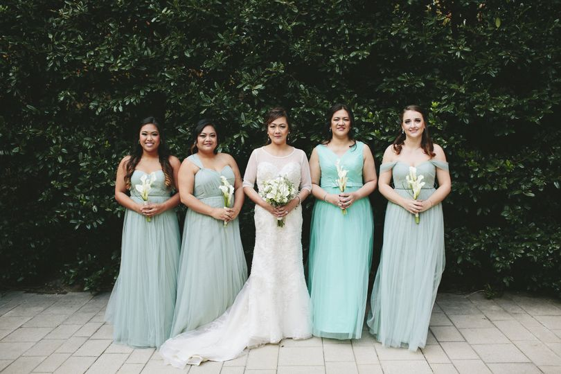 Bride and her bridesmaids | Photo credits: Natalie E Photography