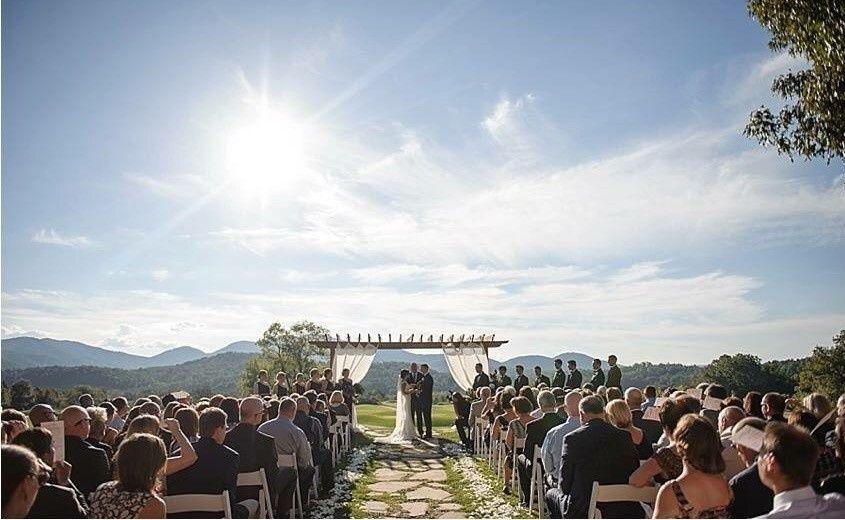 Wedding ceremony outdoors