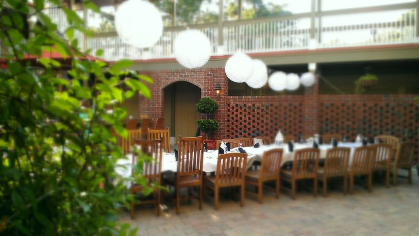 Our 1600 sq/ft. outdoor courtyard is perfect for intimate receptions or rehearsal dinners. The space...