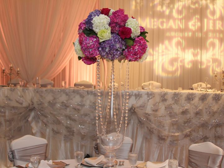 Tmx 1424379331489 Pink And White Round Mound Crystals Jpg Fraser, MI wedding florist