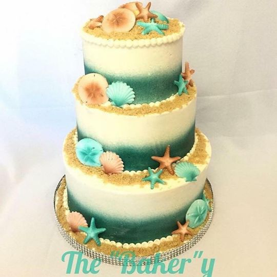 Three tier buttercream frosted