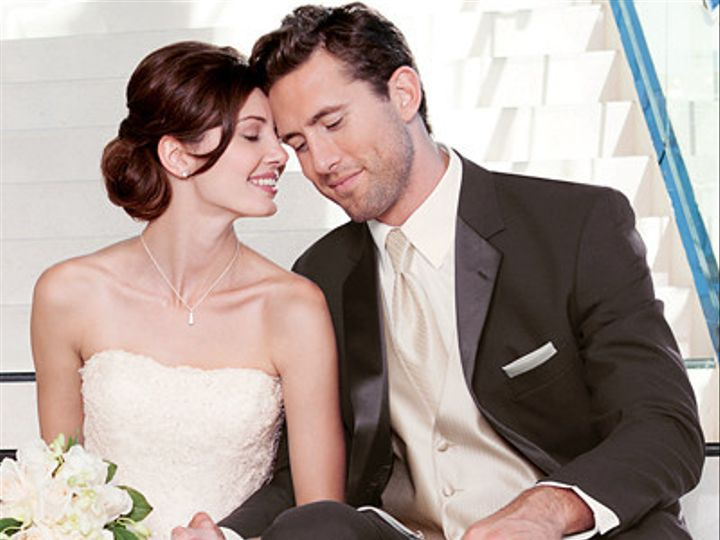 Tmx 1392234190321 Stephen Geoffrey Cambridge Chocolate Tuxedo Ivor Bedford, New Hampshire wedding dress