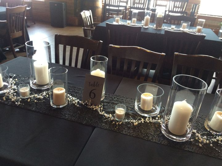 New Year's Eve table set up