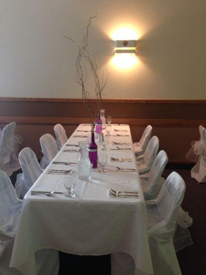 Intimate table setup
