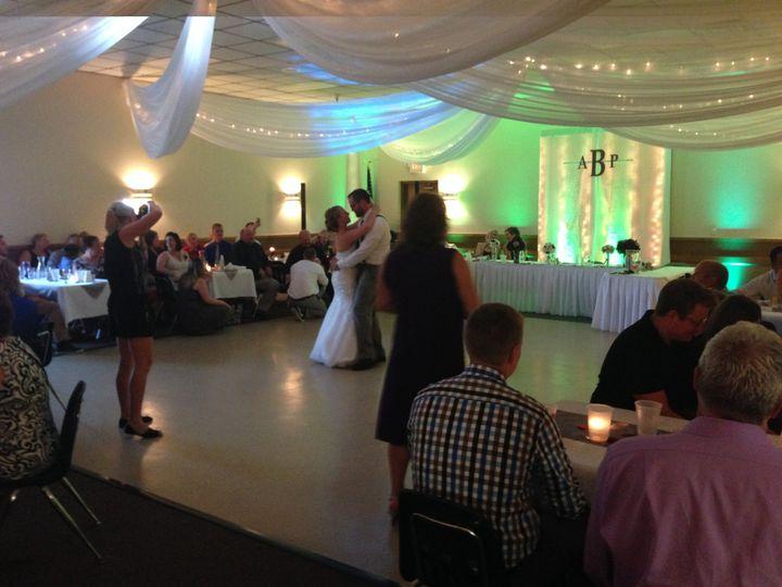 Dance floor and newlyweds