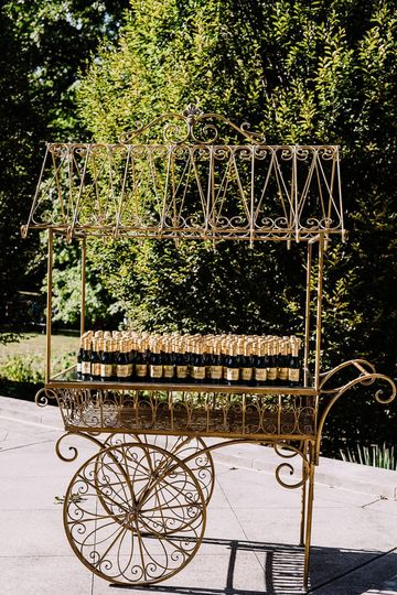 Cheers! Gold display cart