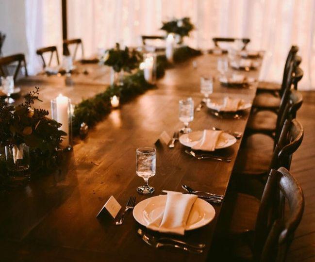 Gorgeous farm tables