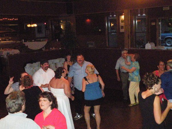 Bride Groom And All Having A Great Time Dancing